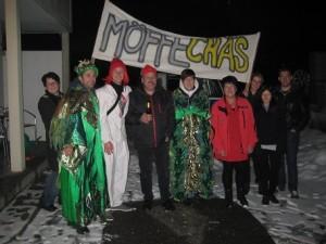 Nadja Graf, Paco (Vizepräsident), Miggeli (Möffechäs-Initiator), Werner Graf, Steffi (Möffechäs-Initiatorin), Lola Graf, Myriam